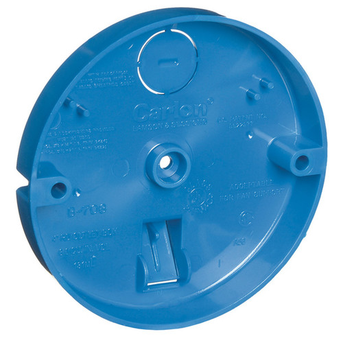 Carlon Lamson and Sessons Light Switches & Electrical Outlets Carlon 3/4 in. H Round 1 Gang Outlet Box Blue PVC