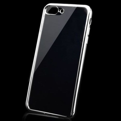Insten Clear/ Silver TPU Rubber Candy Skin Case Cover For Apple iPhone 7 Plus