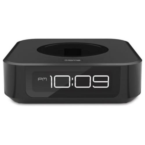iHome Docking Bedside Speaker for Amazon Echo Dot in Black