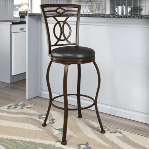 Jericho Stool, Dark Brown Leather (Assorted Sizes) [size : ; OriginalSize : :Bar]