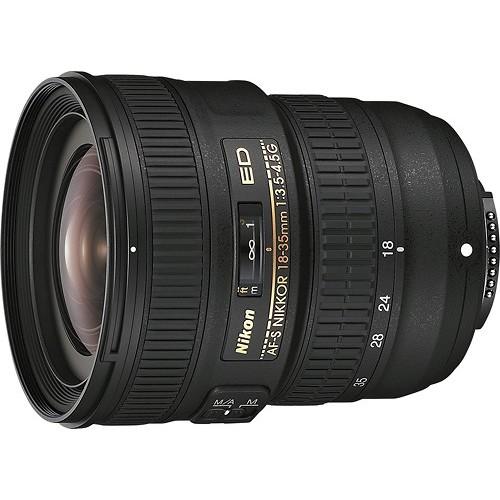 Nikon - AF-S NIKKOR 18-35mm f/3.5-4.5G ED Ultra-Wide Zoom Lens - Black