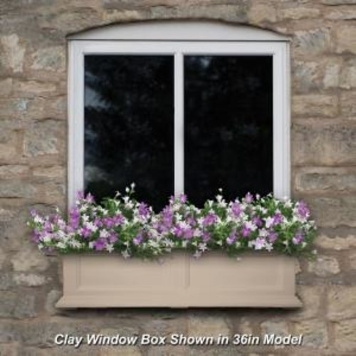 Mayne Fairfield 11 in. x 48 in. Clay Polyethylene Window Box