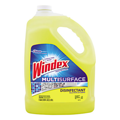 Windex Multi-Surface Disinfectant Cleaner, Citrus, 1 Gallon, Pack Of 4