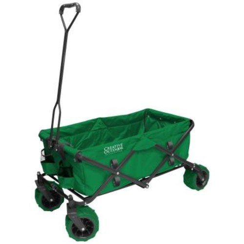 Creative Outdoor 7 cu. ft. Folding Garden Wagon Carts in Green