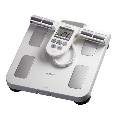 Omron Body Composition Monitor with Scale & 5 Fitness Indicators [Red, OS]