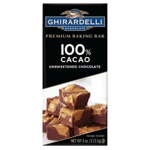 Baking Bar Ghirardelli - 100% Cacao - 4oz