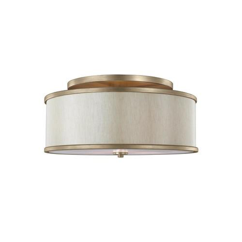 Feiss Lennon 3-Light Sunset Gold Semi-Flushmount