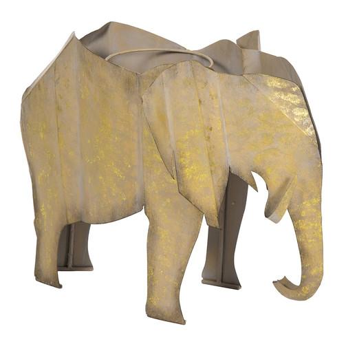 Bombay Outdoors Steel Elephant Planter