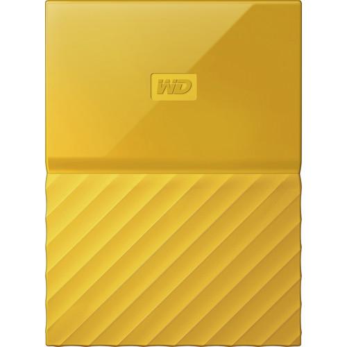 WD - My Passport 4TB External USB 3.0 Portable Hard Drive - Yellow