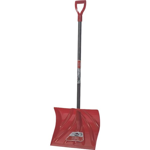 Garant NPM18KD Nordic 18-Inch Poly Blade Snow Shovel - Red [18-Inch Poly Blade D-Grip]