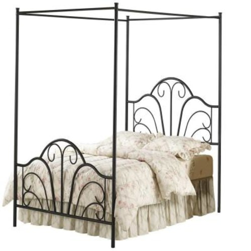 Hillsdale Furniture Dover Textured Black Full Canopy Bed
