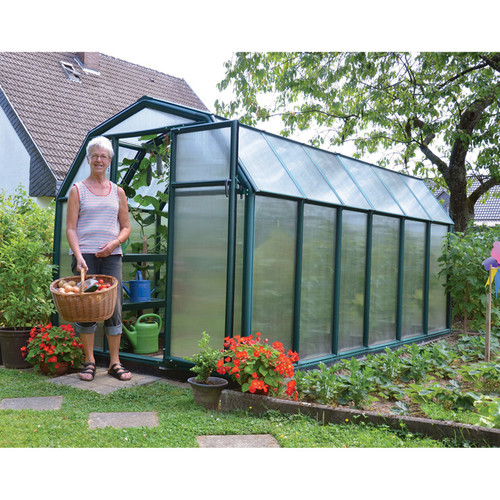 Rion EcoGrow 2 Twin Wall Greenhouse  6ft. x 12ft., Model# HG7012