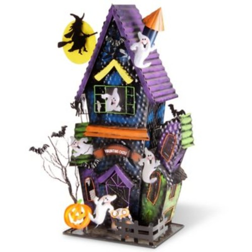 National Tree Company Haunted House Candle Holder