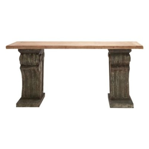 Cole & Grey Rustic Wood Console Table