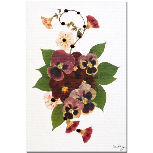 Trademark Fine Art Gallery Wrapped Canvas Kathie McCurdy 'Pansy Patch' Canvas Art