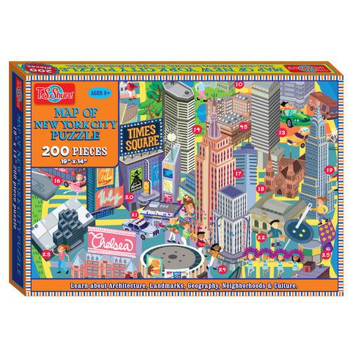 TS Shure Map of New York City 200 Piece Jigsaw Puzzle