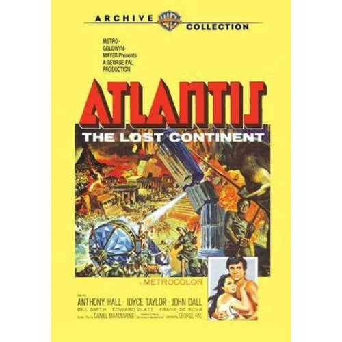 Warner Bros Atlantis, The Lost Continent, DVD