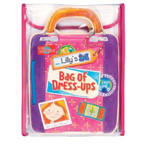 TS Shure Lily's Bag of Dress-Ups Wooden Magnetic Doll and Book