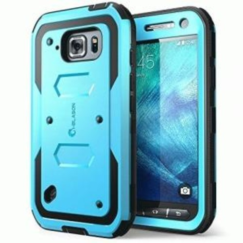 i-Blason Galaxy S6 Active Armorbox Dual Layer Full Body Protective Case - Smartphone - Blue - Polycarbonate, Thermoplastic Polyurethane (TPU)