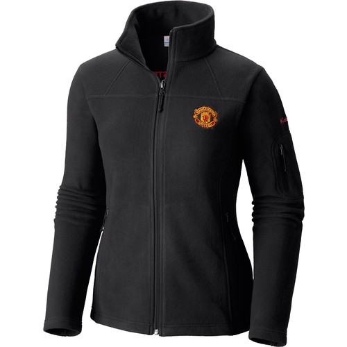 Columbia Women's Manchester United Fast Trek II Full Zip Black Fleece Jacket