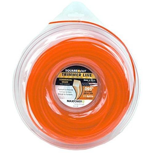MaxPower 332195 Square One Trimmer Line [Orange]