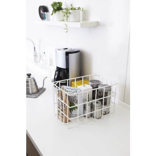 Tower Stackable Storage Basket in Various Colors design by Yamazaki - White
