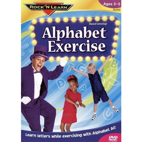 Alphabet Exercise DVD by Rock 'N Learn [1]