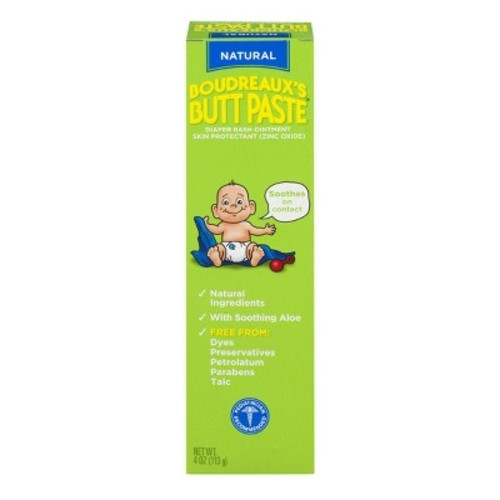 Boudreaux's Paste (Natural) Diaper Rash Cream - 4 oz