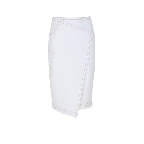 TIBI Anson Stretch Asymmetrical Skirt