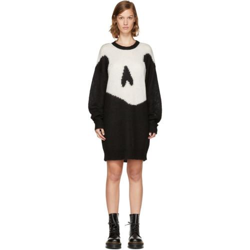 MCQ ALEXANDER MCQUEEN Black Giant Swallow Sweater Dress