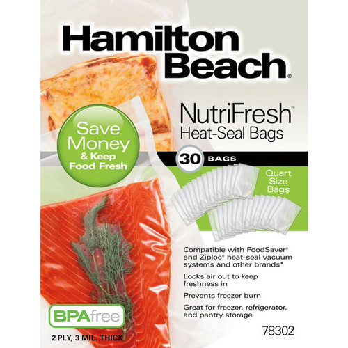 Hamilton Beach NutriFresh Heat-Seal Bags