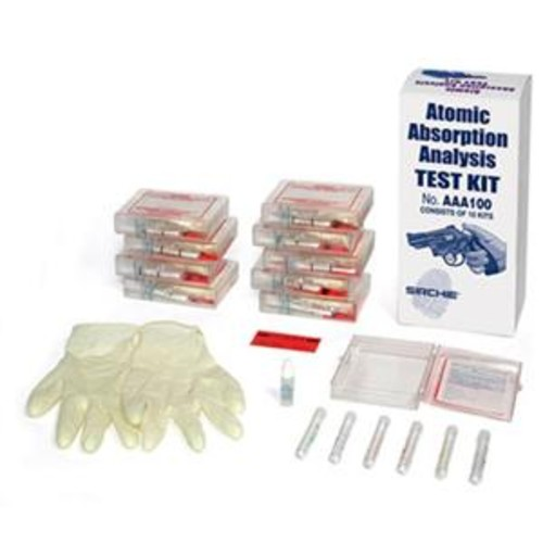 Sirchie Atomic Absorption Analysis Test Kit, Set of 10 Test AAA100