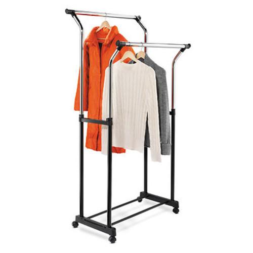 Honey-Can-Do Garment Rack - Black/Chrome