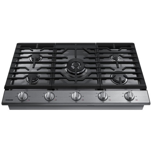 Samsung 36 in. Gas Cooktop in Stainless Steel with 5 Burners including Power Burner with WiFi