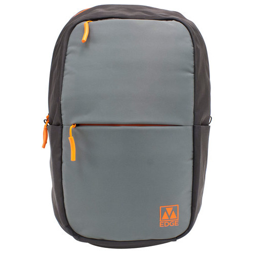 M-Edge Accessories - Laptop Backpack - Gray/Orange