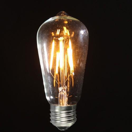 ST58 E27 ES COB Vintage Antique Edison Style LED Clear Glass Light Lamp Globe Bulb 4W