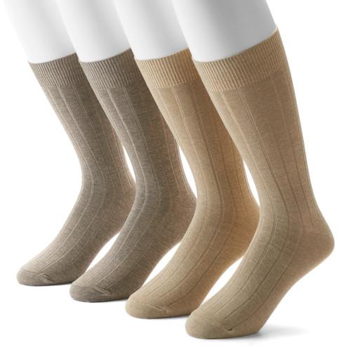 Men's Dockers 4-pack Ribbed Dress Socks