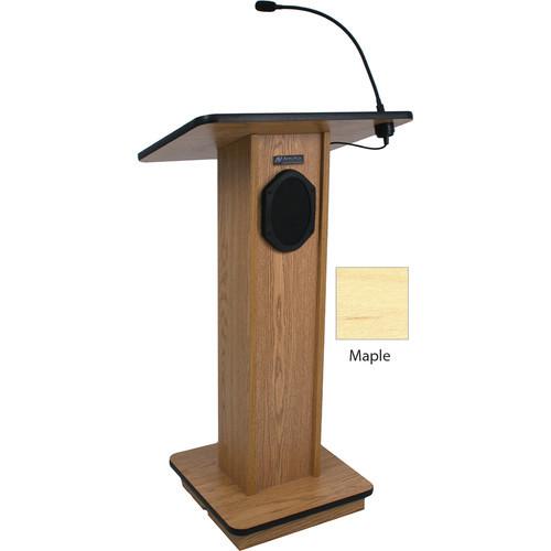 Elegant Wood Elite Lectern with Sound System (Maple)