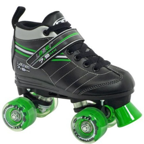 Roller Derby Skate Corp Laser 7.9 Boys' Speed Quad Skates, Black /Size: 4