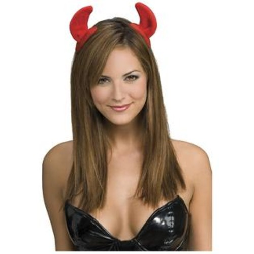 Rubie's Costume Co Red Devil Horns Adult On Clips Halloween Costume Accessory