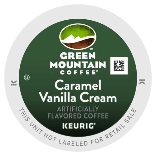 Green Mountain Pods Caramel Vanilla Cream Coffee K-Cup Pods, 0.4 Oz, Box Of 96
