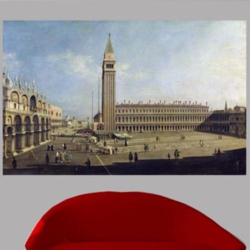 Astoria Grand 18th 'Piazza San Marco' Graphic Art Print Poster; 38'' H x 60'' W
