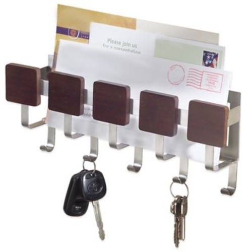 InterDesign Formbu 5-Hook Key and Mail Center