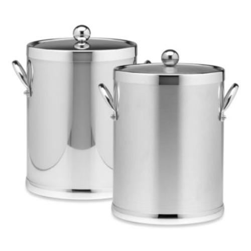 Kraftware Americano Chrome Ice Bucket with Side Handles
