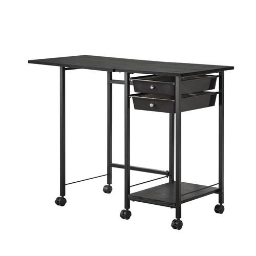 Coaster Company Metal 2-Drawer Folding Desk [Finish : White Finish]