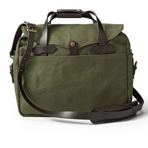 Filson Twill Large Briefcase Bag, Otter Green 70257-OT