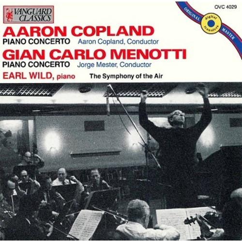 Earl Wild - Aaron Copland, Gian Carlo Menotti: Piano Concertos (CD)