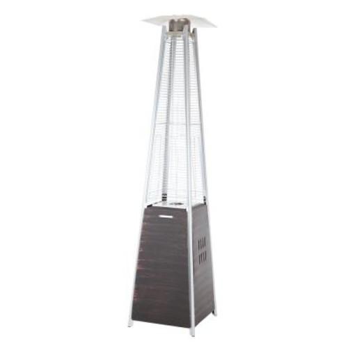 Fire Sense 40,000 BTU Coronado Brushed Bronze Pyramid Flame Gas Patio Heater