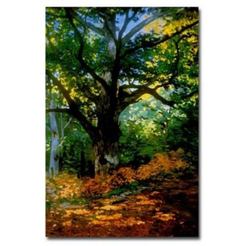 Trademark Fine Art Claude Monet, 'Bodmer Oak, Fontainebleau Forest' Canvas Art 22x32 Inches