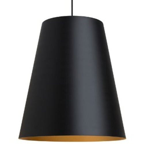 Gunnar Pendant [Finish : Black with Satin Gold interior; Light Option : Incandescent]